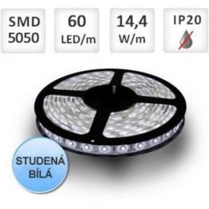 LED pásek 5m 60ks 5050 14.4W/m, STUDENÁ